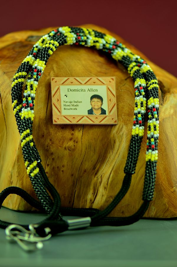 Domacita Allen Beaded American Indian Lanyard
