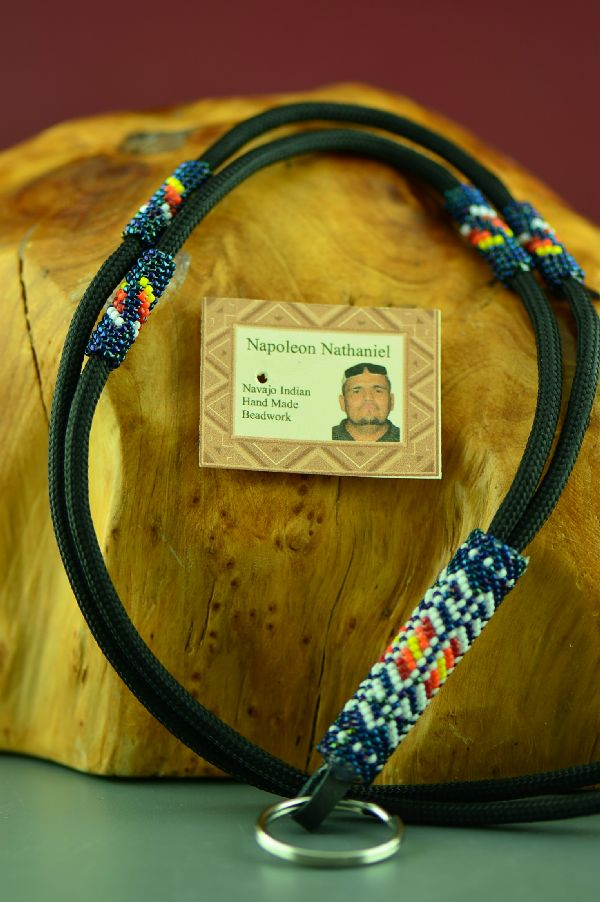 Beaded American Indian Lanyard by Napoleon Nathaniel