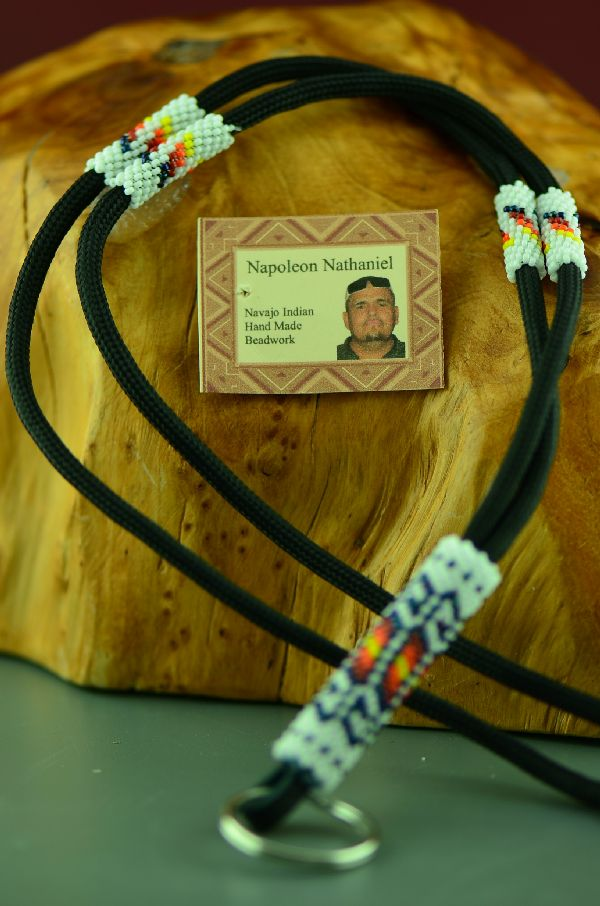 Navajo Beaded American Indian Lanyard by Napoleon Nathaniel