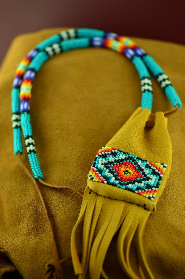 Michael J. Endfield White Mountain Apache Beaded Medicine Pouch