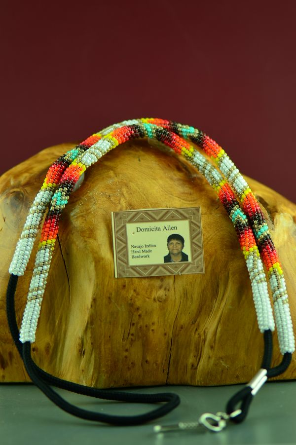 Authentic Navajo Beaded ID Badge Holder by Domacita Allen