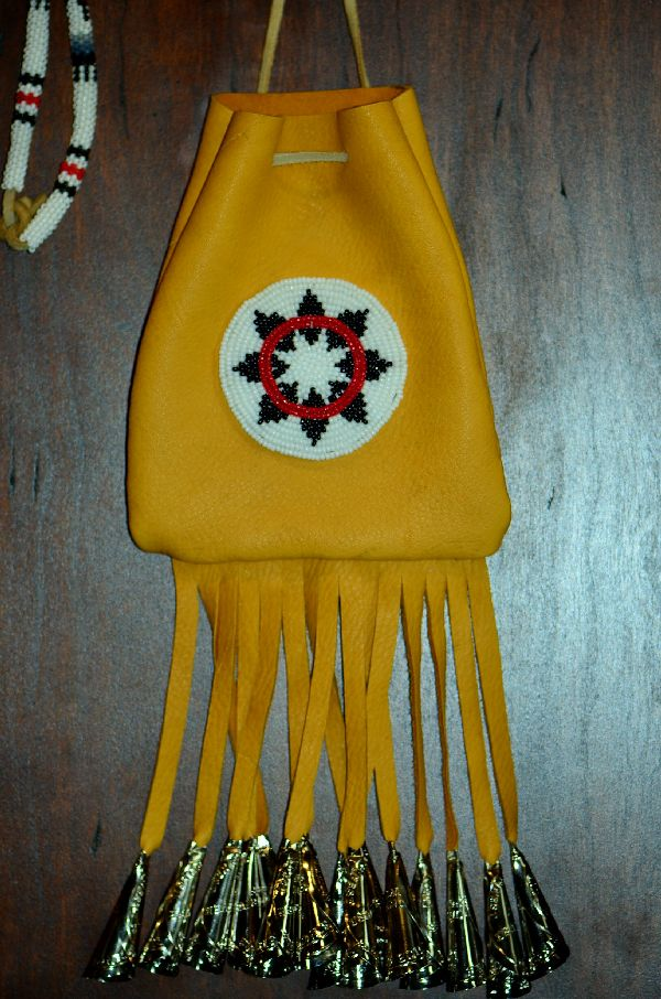 Michael J. Endfield Large White Mountain Apache Beaded Medicine Pouch