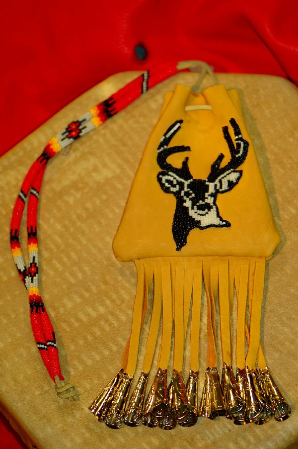 White Mountain Apache Beaded Deer Medicine Pouch