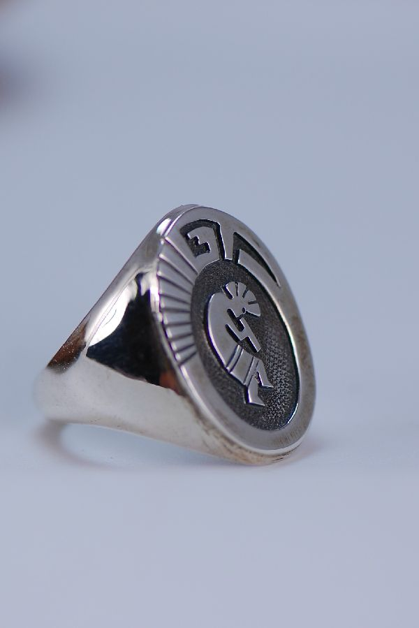 Navajo – Sterling Silver Kokopelli Ring Size 13 1/2