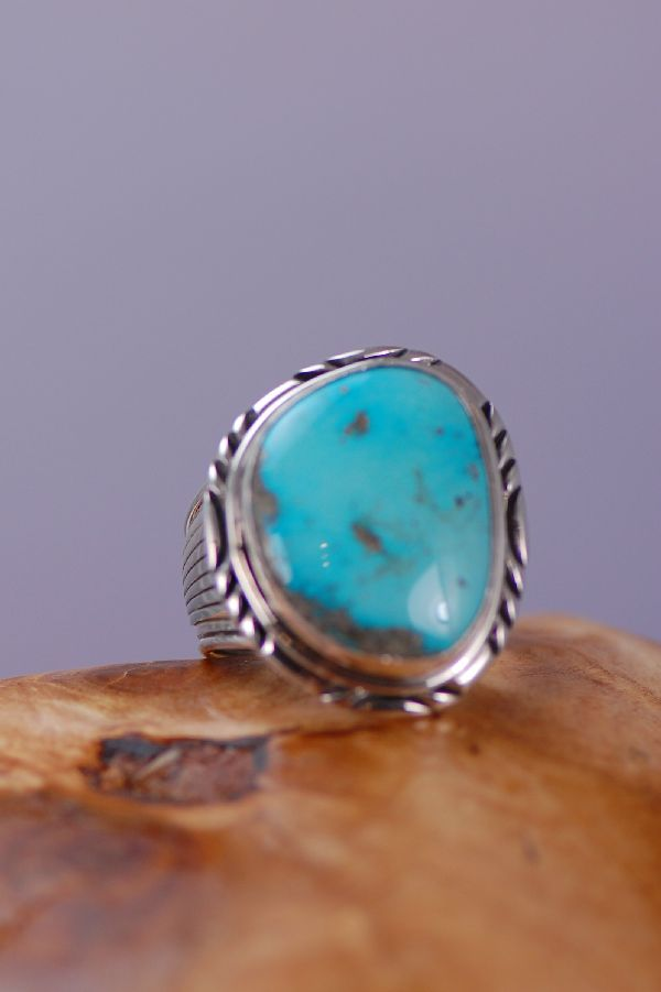 Natural Fox Turquoise Sterling Silver Ring