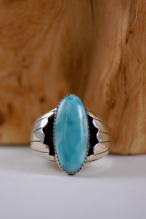 Caribbean Larimar Sterling Silver Ring