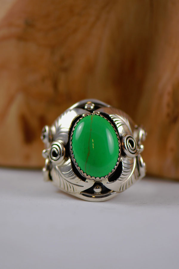 Navajo – Gaspiete Sterling Silver Ring Size 14 3/4