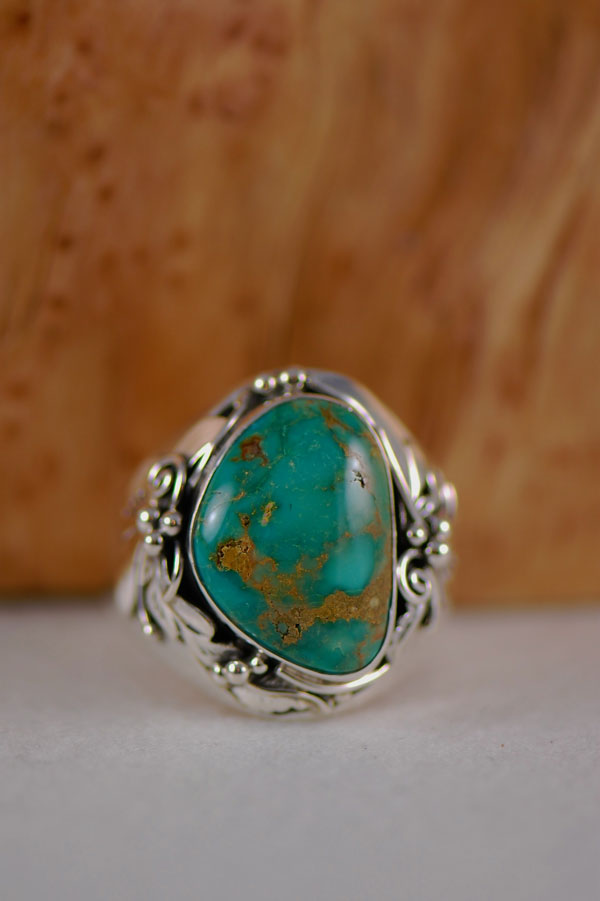 Navajo � Royston Turquoise Sterling Silver Ring Size 17
