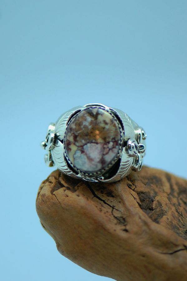 Navajo � Wild Horse Magnesite Sterling Silver Ring Size 14 3/4