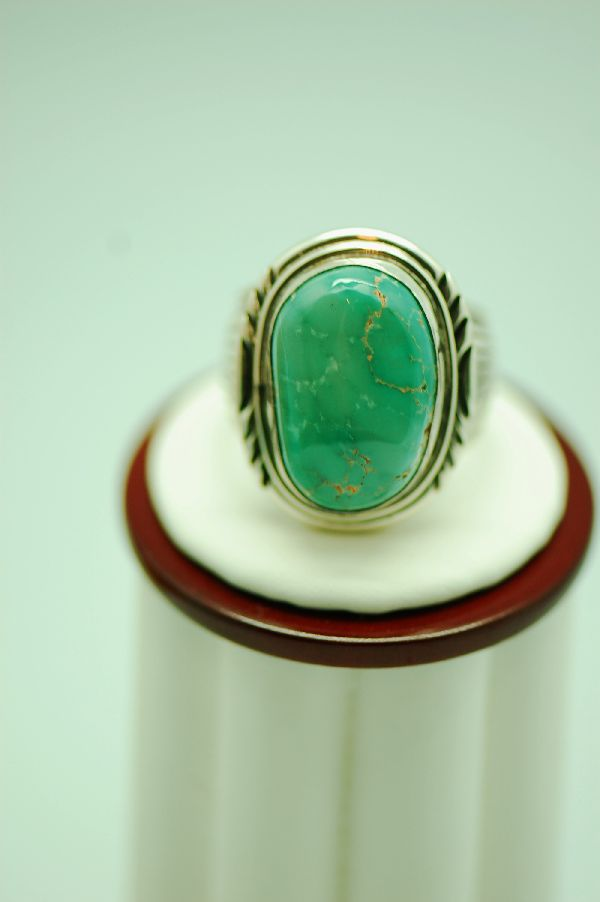 Fox Turquoise Ring Mans