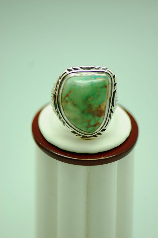 Navajo – Fox Turquoise Sterling Silver Ring Size 14 1/4