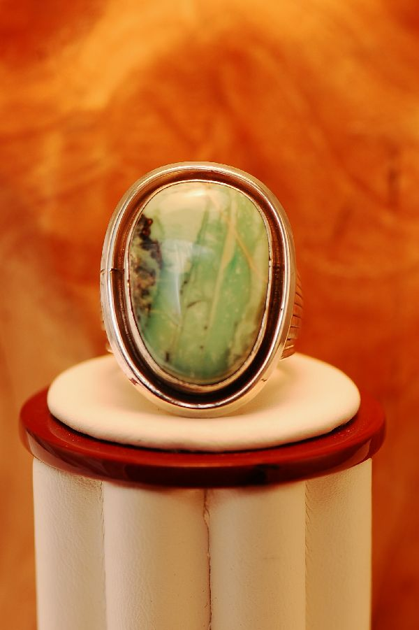 Navajo – Apache Turquoise Sterling Silver Ring Size 11