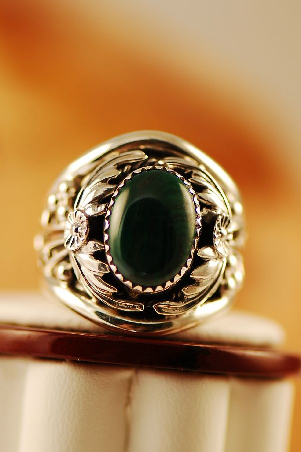 American Indian Malachite Sterling Silver Ring