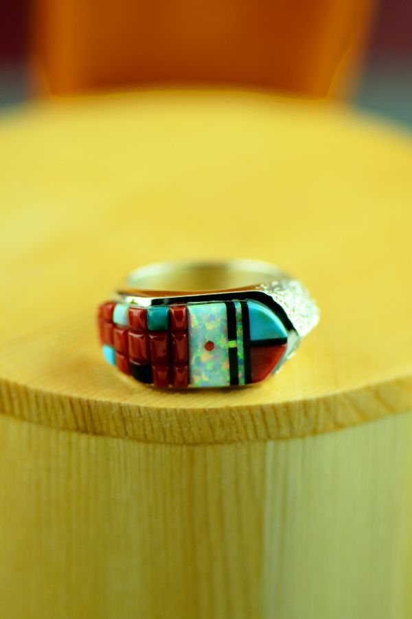 Navajo Inlaid Rings