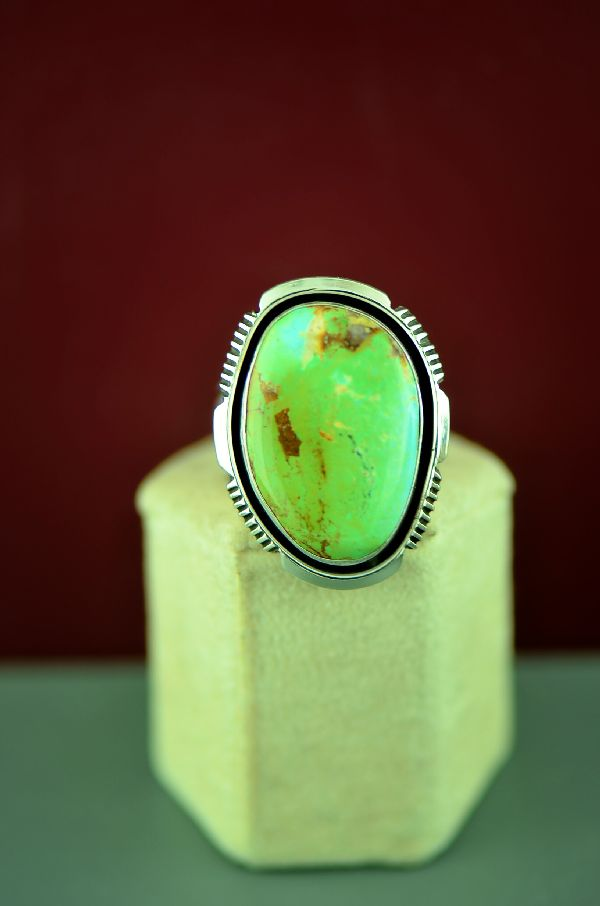 Will Denetdale Mans Fox Turquoise Ring