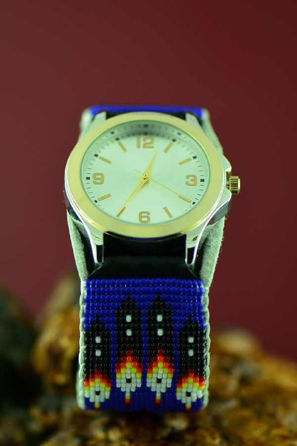 Navajo Beaded Unisex Watch Bracelet by Daniel Yazzie
