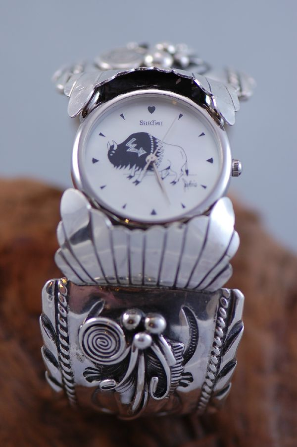 Navajo Exquisite Sterling Silver Watch Bracelet