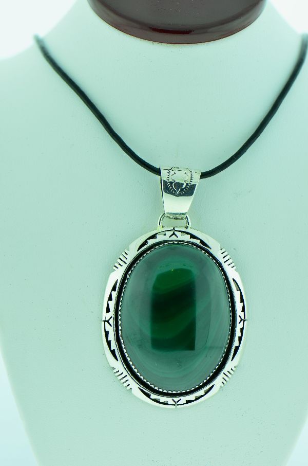Native American Malachite Pendant