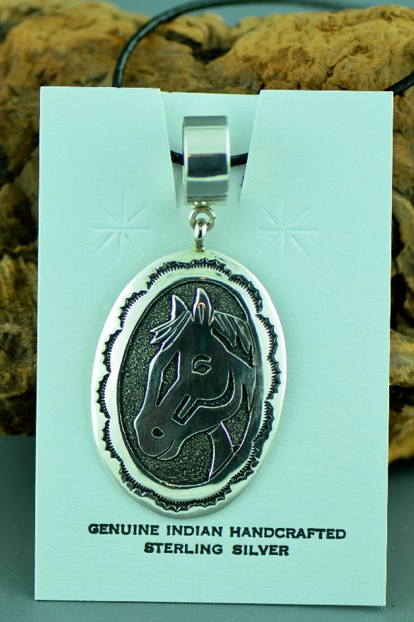 Navajo Horse Pendant by Tommy Singer