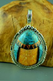 Native American Inlay Pendants Jewelry