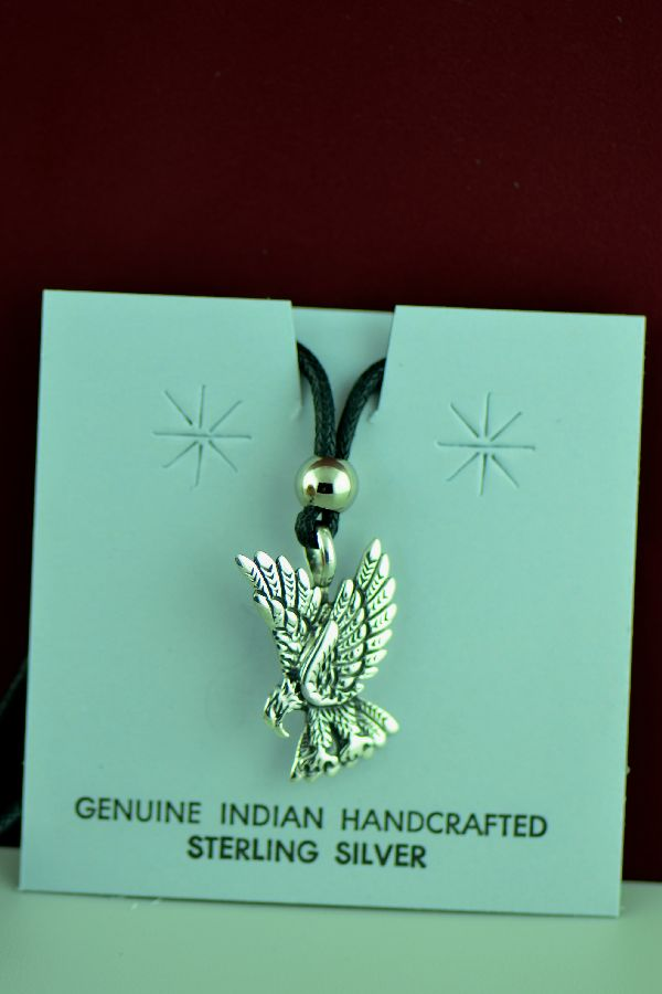 Navajo – Sterling Silver Eagle Pendant by Freddy Charley