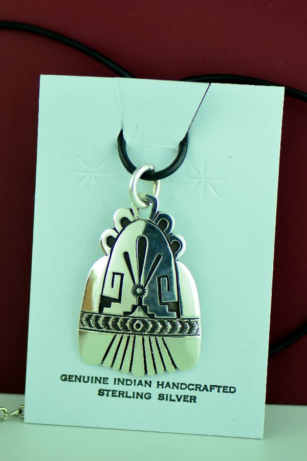 Navajo – Hand Stamped Sterling Silver Pendant by Richard John