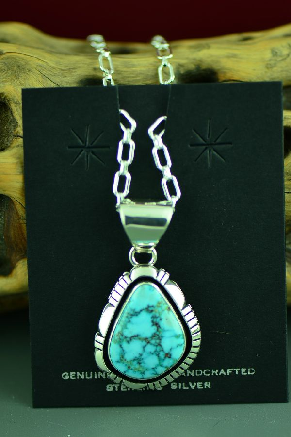 jimmy secatero kingman turquoise pendant