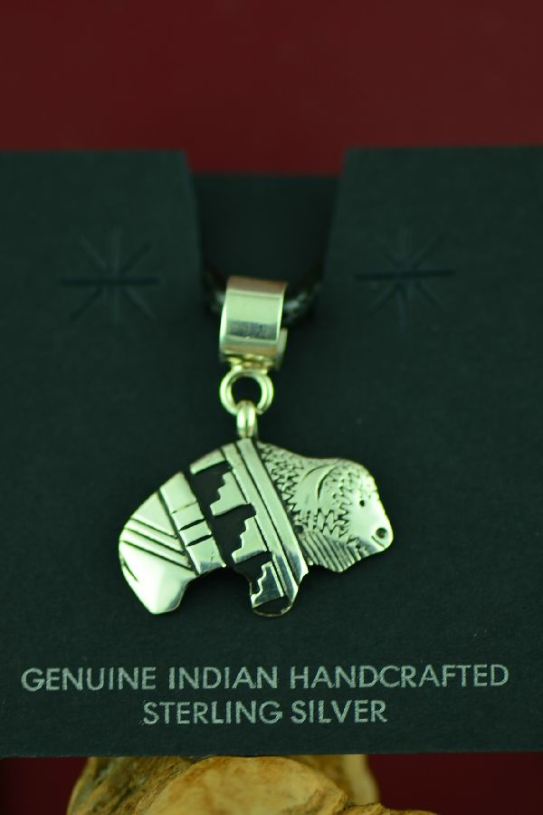 Buffalo Native American Pendant