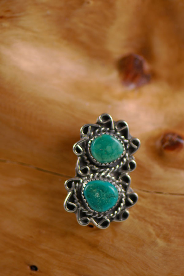 Navajo – Turquoise Sterling Silver Pendant