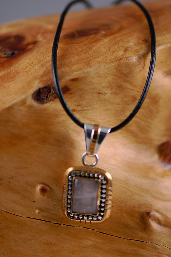 Navajo � 12ktGF and Sterling Silver Labordorite Pendant by Sammy Eagle