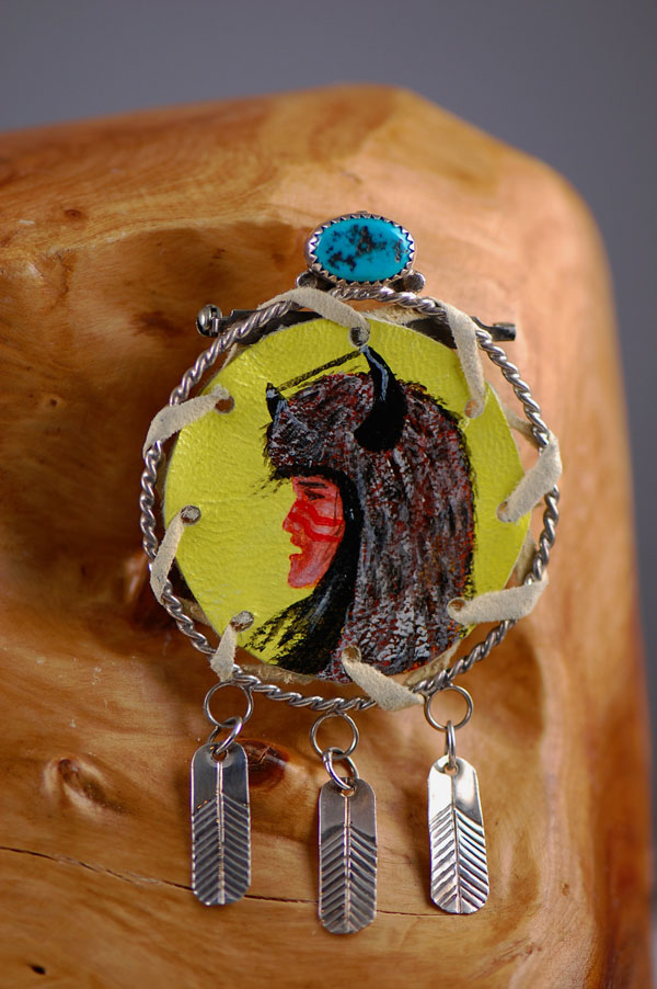 Navajo –Sterling Silver Buffalo Dancer Kachina Pin/Pendant by Richard Peterson