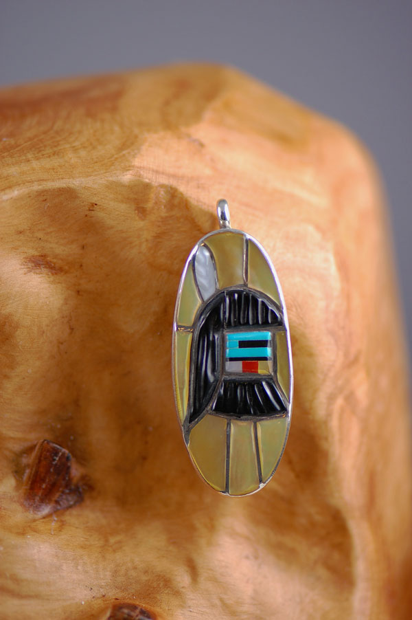 Zuni Long Hair Kachina Pendant