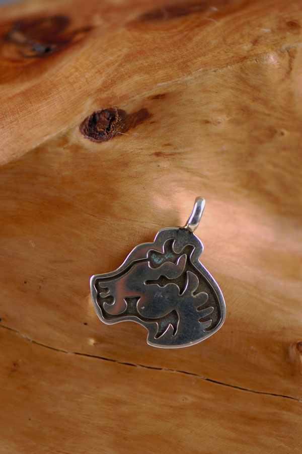 Navajo - Sterling Silver Horse Pendant by Marian Begay