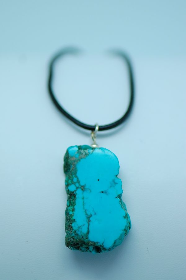 Navajo – Color Enhanced Magnesite Pendant by DuWayne Turpen