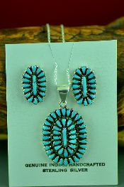 Native American Pendant and Earring Sets Jewelry