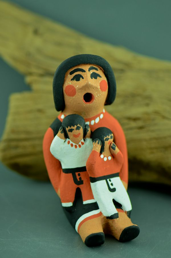 Jemez � Storyteller Doll Pottery with Two Children by Edwina Tortalita