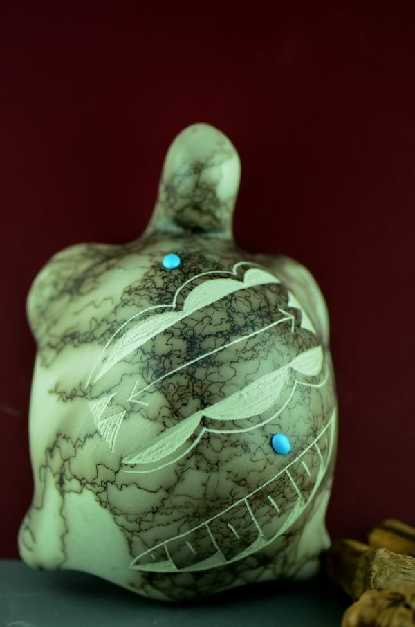 Navajo – Horse Hair Turtle Pottery by Geri Vail