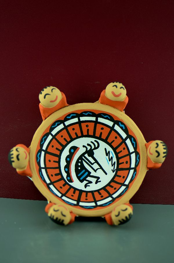 Jemez - Hand Thrown and Hand Painted Friendship Pottery Bowl by Tim Tosa