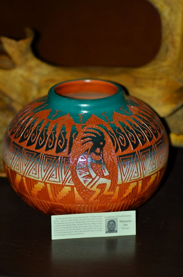 Navajo Hand Painted Pottery with Kokopelli