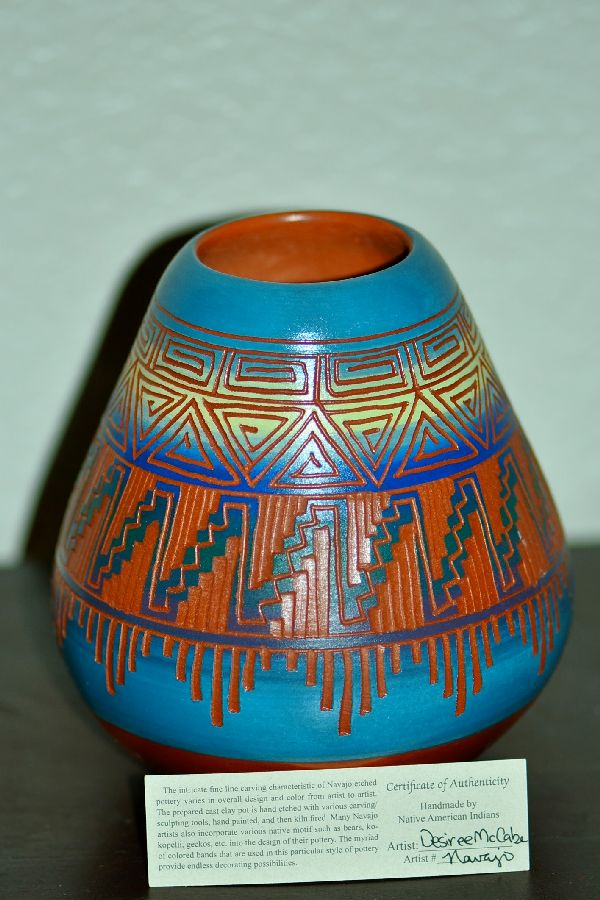 Traditional Pottery American Indian Desiree McCabe