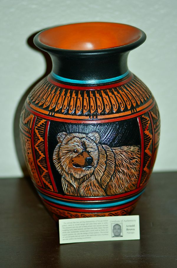 Arnold Brown Bear Pottery