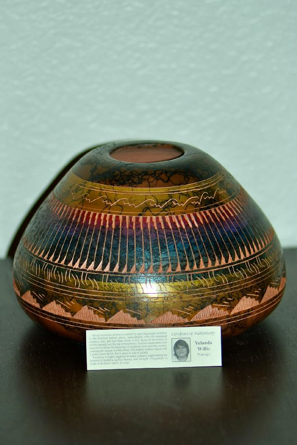 Navajo Pottery Vase by Yolanda Willie