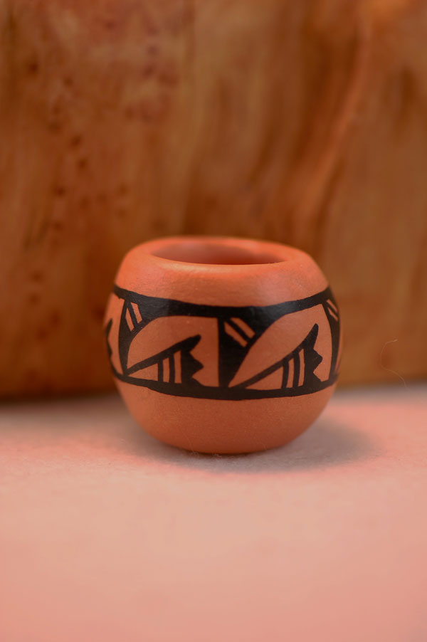 "Navajo – Hand Painted Miniature Pottery by ""LN"""