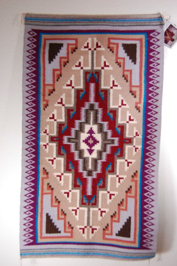 Navajo -  Two Grey Hills Pattern Rug by Rhonda Begay